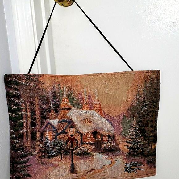 Thomas Kincade Fiberoptic hanging tapestry